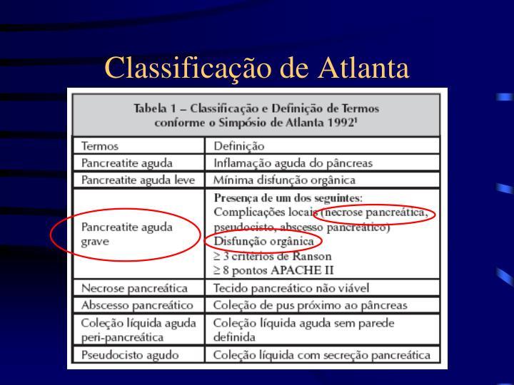 Classificação de Atlanta