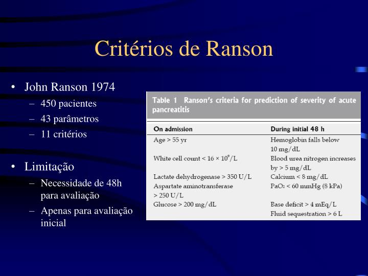 Critérios de Ranson