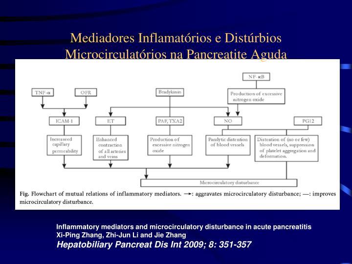 Mediadores Inflamatórios e Distúrbios Microcirculatórios na Pancreatite Aguda