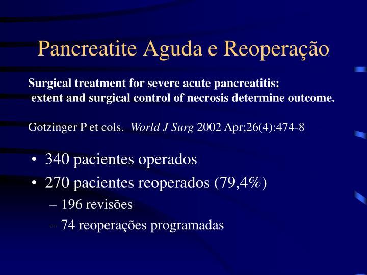 Pancreatite Aguda e Reoperação