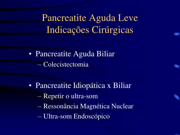 Pancreatite Aguda Leve