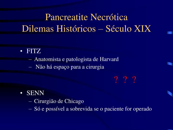 Pancreatite Necrótica