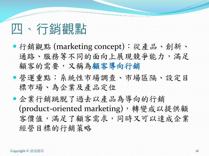 四、行銷觀點