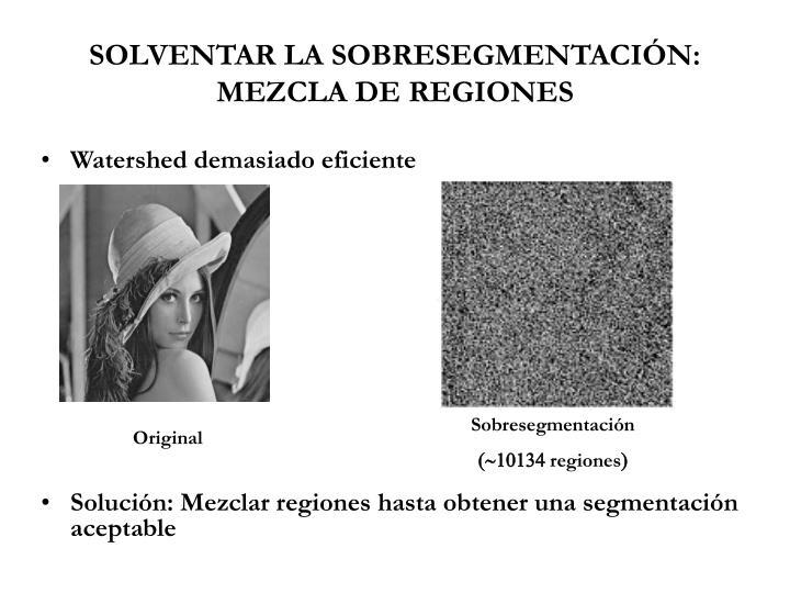 SOLVENTAR LA SOBRESEGMENTACIÓN: MEZCLA DE REGIONES