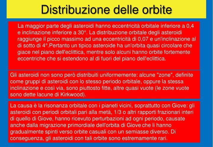 Distribuzione delle orbite