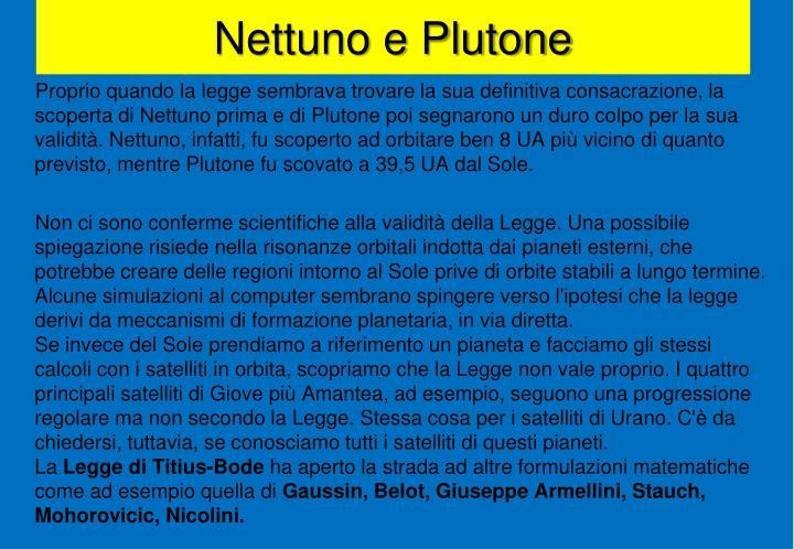 Nettuno e Plutone