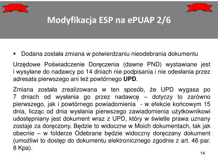Modyfikacja ESP na ePUAP 2/6