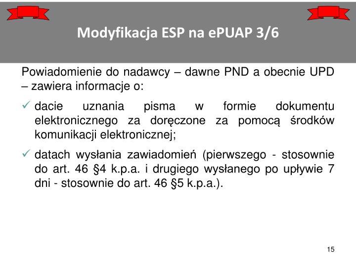 Modyfikacja ESP na ePUAP 3/6
