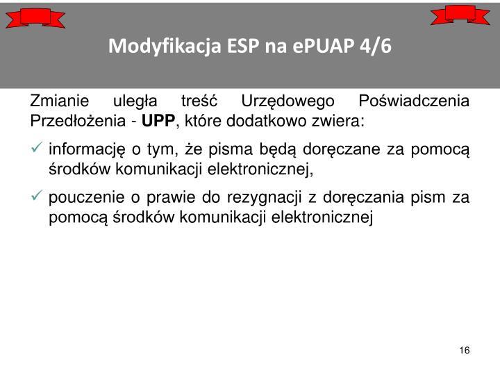 Modyfikacja ESP na ePUAP 4/6
