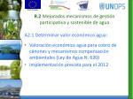 r 2 mejorados mecanismos de gesti n participativa y sostenible de agua