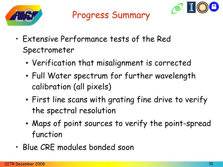 Progress Summary