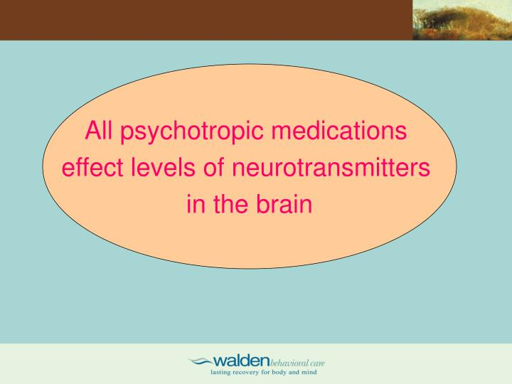 All psychotropic medications