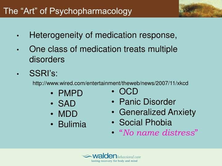 "The ""Art"" of Psychopharmacology"
