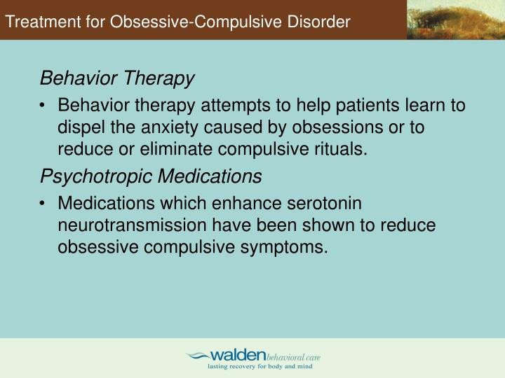Treatment for Obsessive-Compulsive Disorder