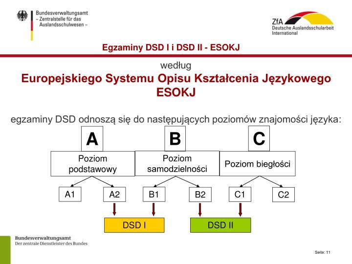 Egzaminy DSD I i DSD II - ESOKJ