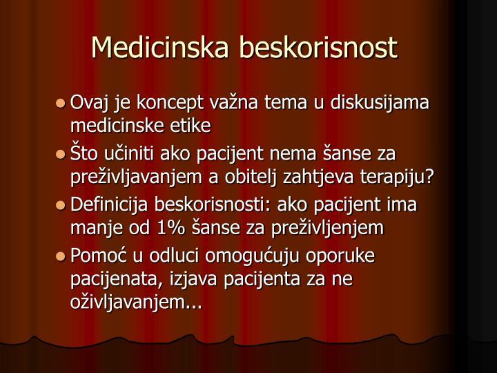 Medicinska beskorisnost