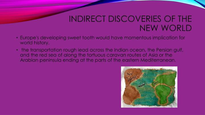 Indirect discoveries of the new world