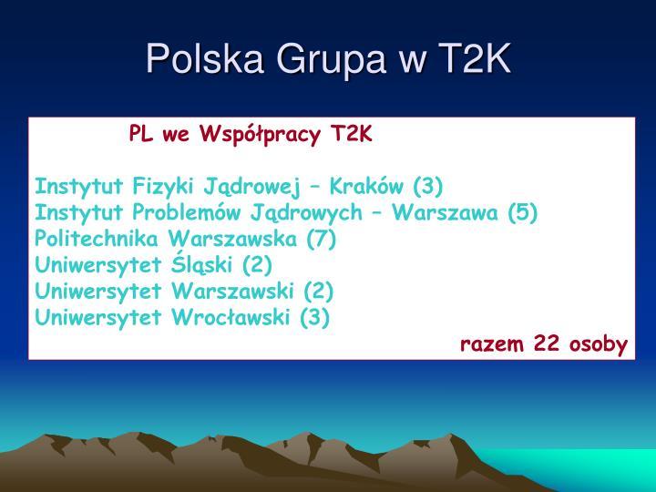 Polska Grupa w T2K