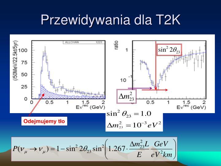 Przewidywania dla T2K