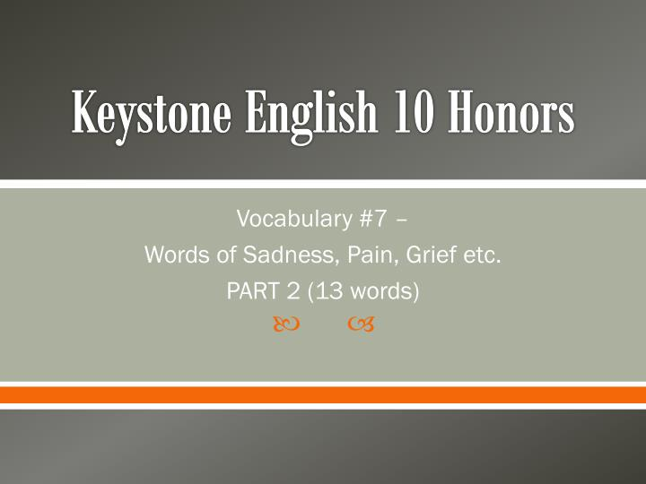 Keystone English 10 Honors