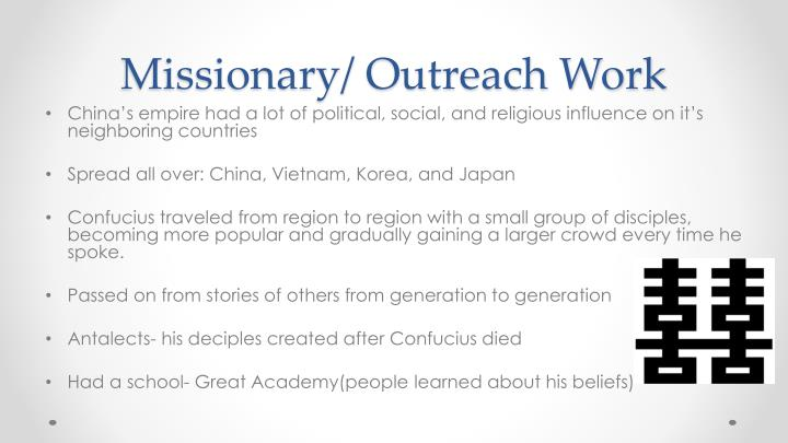 Missionary/ Outreach Work