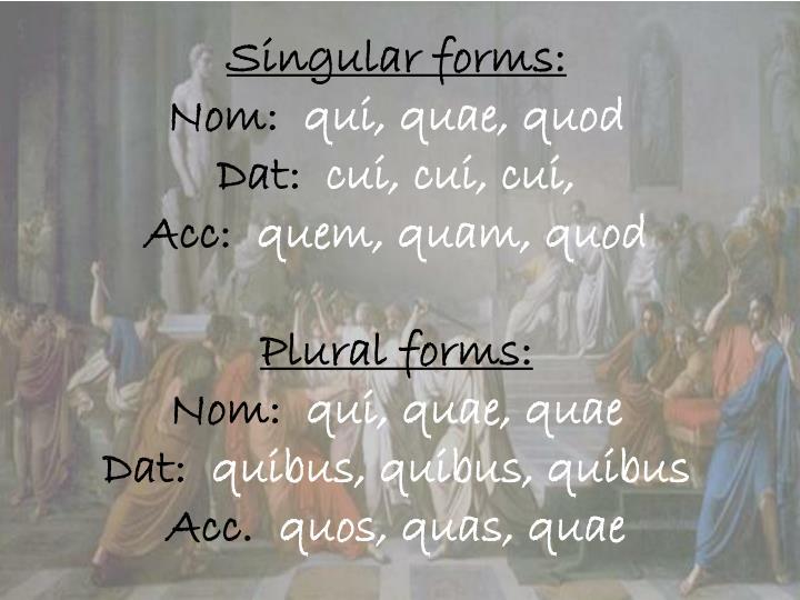 Singular forms: