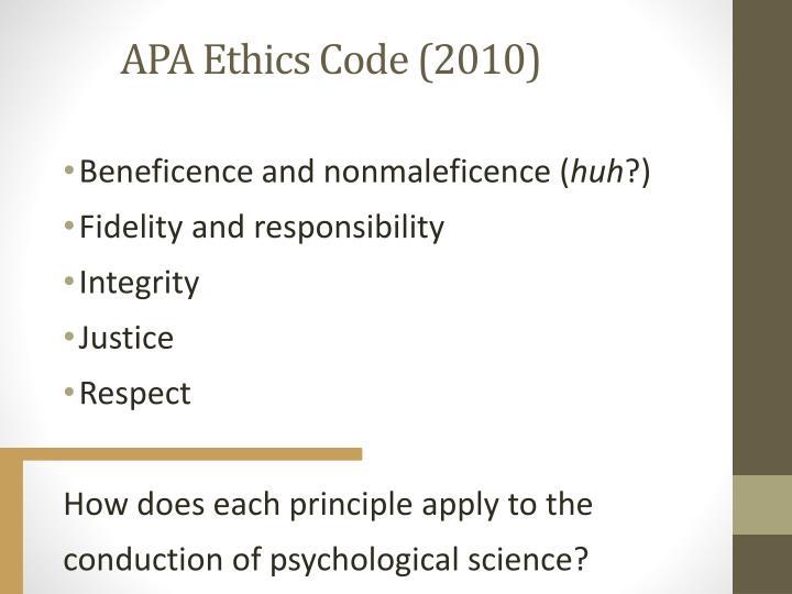 APA Ethics Code (2010)