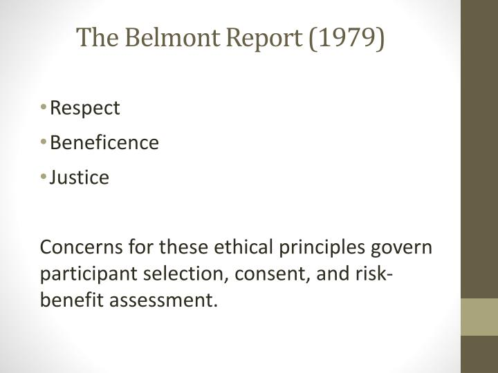The Belmont Report (1979)