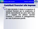 contributi finanziari alle imprese