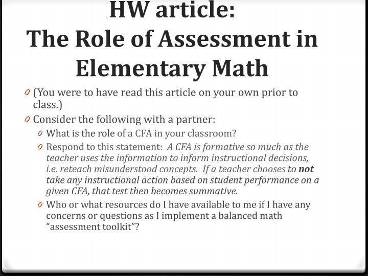 HW article:
