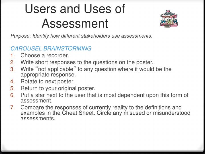 Users and Uses of Assessment