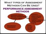 what types of assessment methods can be used3