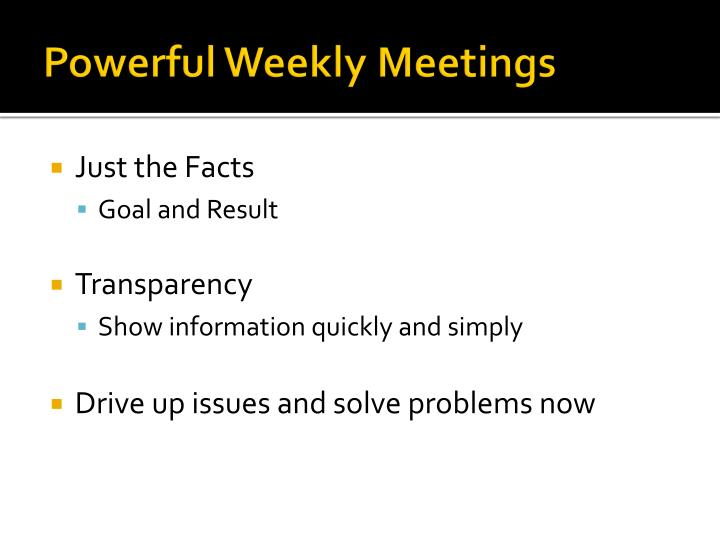 Powerful Weekly Meetings