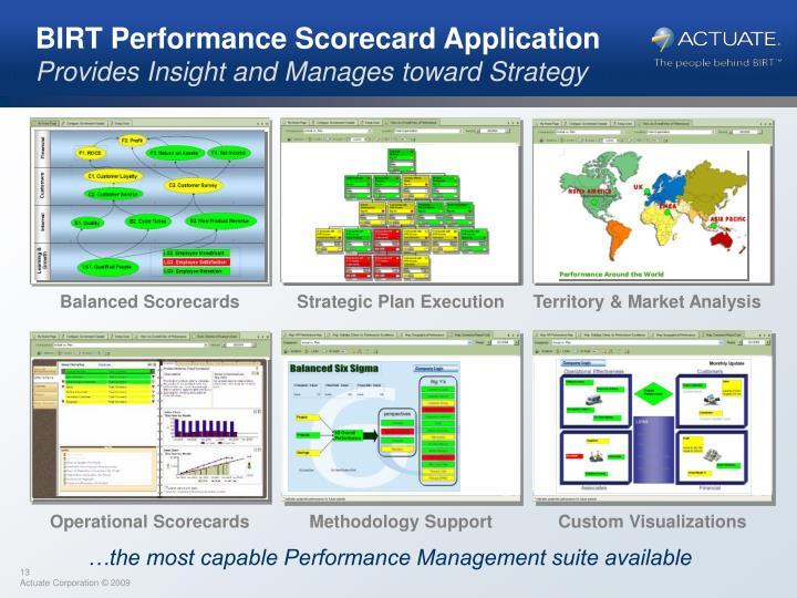 BIRT Performance Scorecard Application