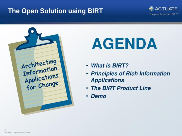 Architecting Information Applications for Change