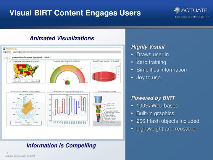 Visual BIRT Content Engages Users