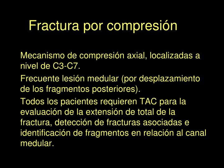 Fractura por compresión