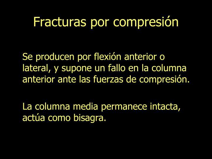 Fracturas por compresión