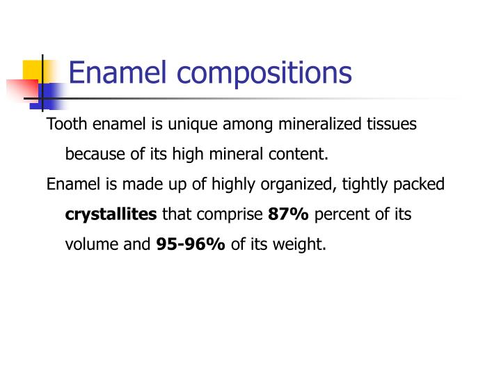 Enamel compositions