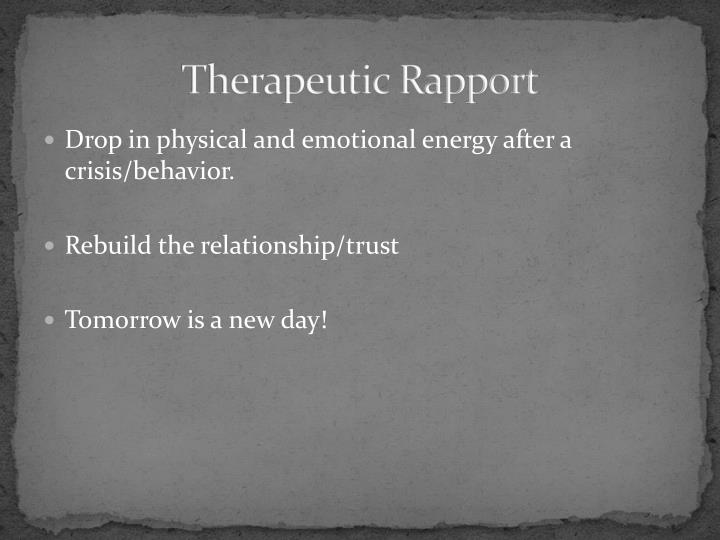 Therapeutic Rapport