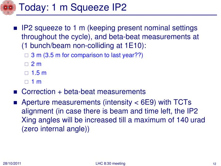 Today: 1 m Squeeze IP2