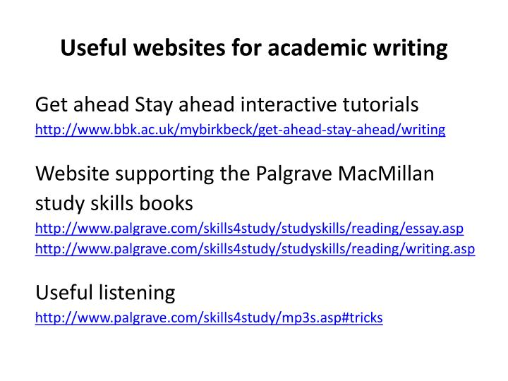 Useful websites for academic writing