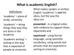 what is academic english
