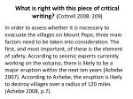 what is right with this piece of critical writing cottrell 2008 209