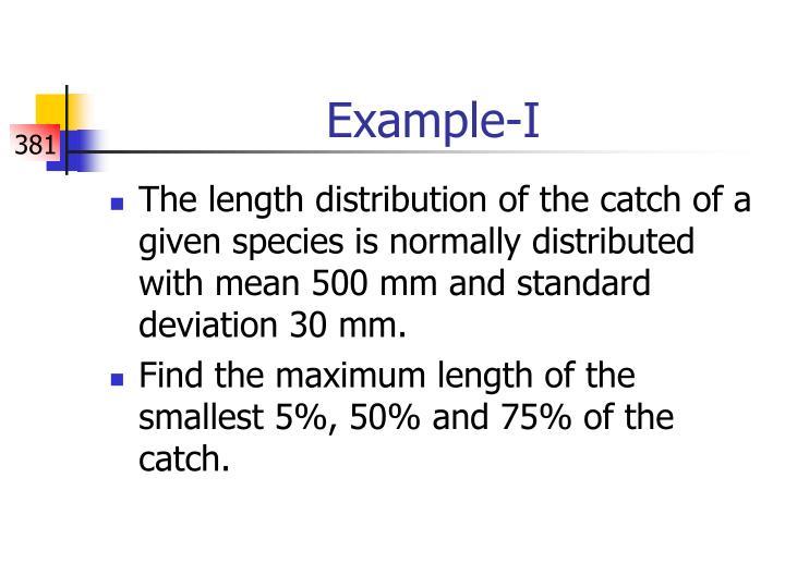 Example-I