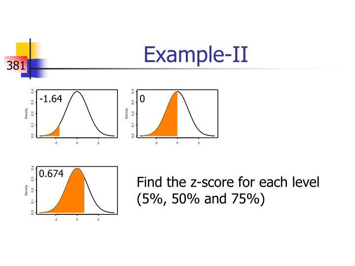 Example-II