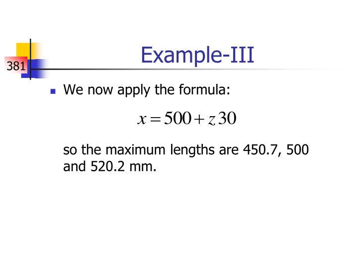 Example-III