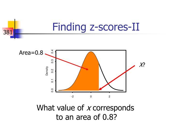 Finding z-scores-II