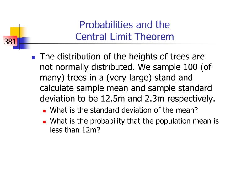 Probabilities and the