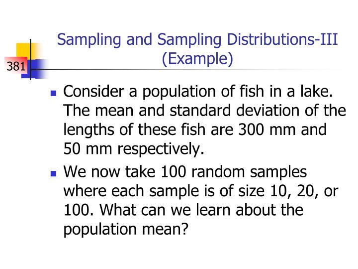 Sampling and Sampling Distributions-III